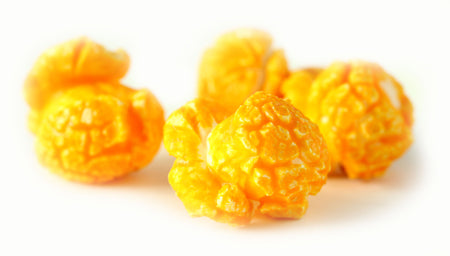 Cheddar Cheese - cheddar cheese and real butter folded into our blend of popcorn