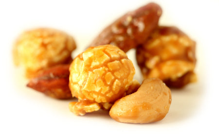 Fancy Nut Caramel - caramel corn mixed with fancy roasted cashews almonds & pecans