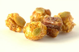 Pumpkin Spice Pecan - Caramel corn tossed with whole pecans and crunchy pumpkin seeds
