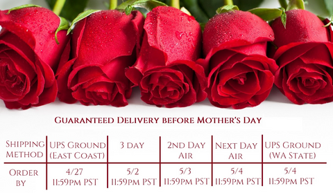 Mother's Day Shipping Deadlines