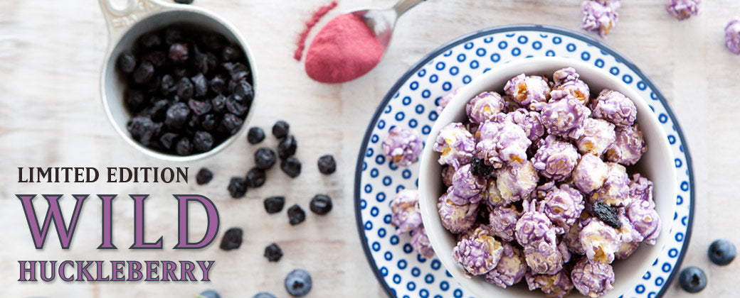 Wild Huckleberry popcorn made from scratch in Seattle by KuKuRuZa Gourmet Popcorn