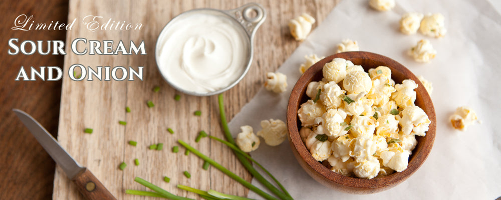Sour Cream & Onion popcorn air-popped Seattle local scratch made recipe