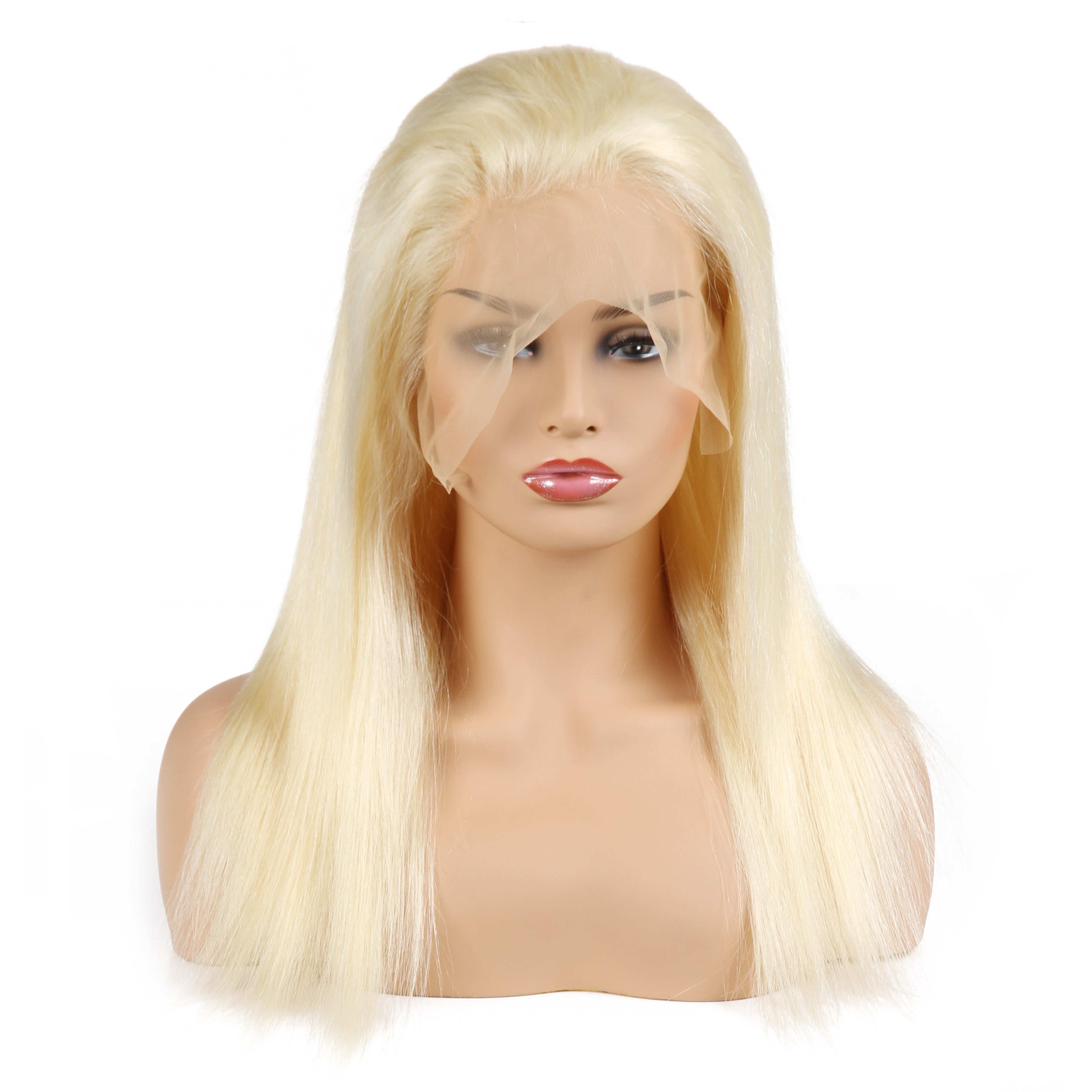100% Virgin 613 Blonde Straight Human Hair Wig