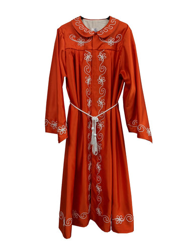 One Piece Robe - Red & Gold