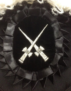 Knights of St. John Crossed Swords Rosette Silver Machine