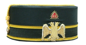 Scottish Rite  32 degree Black Cap