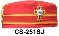 Scottish Rite 32 Degree KCCH Red Cap