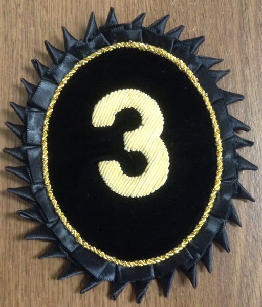 Rosette - Commandery number in Gold Bullion
