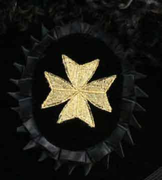 Knights of St. John Cross Rosette Gold Machine