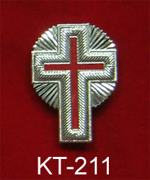 "1"" Silver Metal Passion Cross with Rays"
