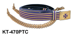Black Belt with Purple & Gold Lace