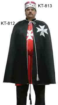 Order of Malta Red Satin Mantle Cap