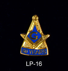 50 Year Blue Lodge Lapel Pin