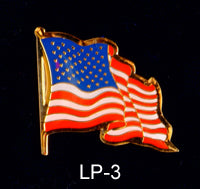 Waving US Flag Lapel Pin