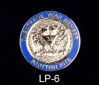 25 Year Member Scottish Rite Lapel Pin
