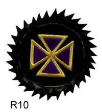 Rosette - Purple Templar Cross