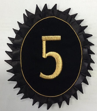 Rosette - Commandery Number in Gold Machine