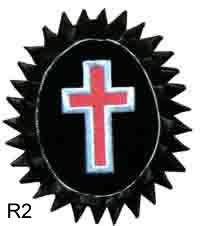 Rosette - Silver Passion Cross