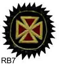 Rosette  - Red Bullion Templar Cross