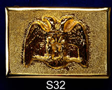 Scottish Rite 32nd Degree buckle