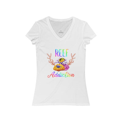 Reef Addiction Women's Jersey Short Sleeve V-Neck Tee