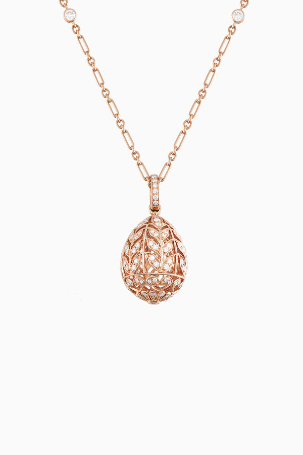 Leaf Emotion  Pendant in Rose Gold