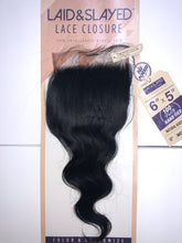 "Load image into Gallery viewer, Laid & Slayed 6"" x 5"" lace closure (Body Wave)"