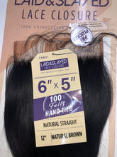 "Load image into Gallery viewer, Laid & Slayed 6"" x 5"" lace closure (Straight)"