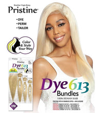 Load image into Gallery viewer, Pristine  Dye 613 Brazilian Virgin Remy Straight Bundle
