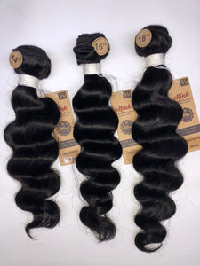 7A Brazilian Unprocessed Virgin Hair (Ripple Deep) 3pc