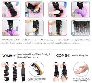 7A Brazilian Unprocessed Virgin Hair (Body Wave) 3pc