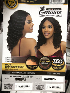 (Monday) Human Hair 360 Lace Wig by Hair Topic