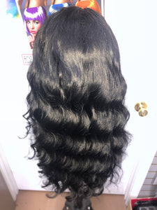 Human Hair Brazilian 360 Lace Wig (Loose Deep Wave) 24 in.
