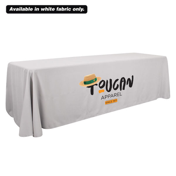8' Economy Table Throw (Dye Sublimation, Front Only)