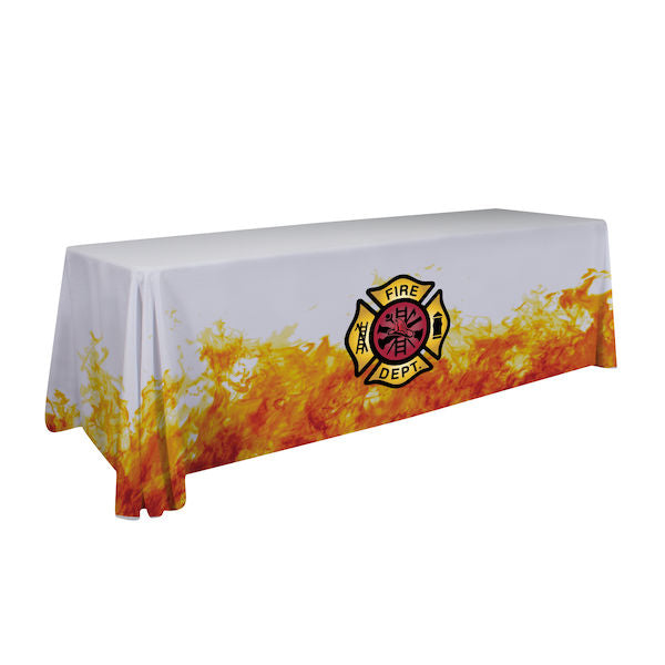 48-Hour Quick Ship 8' Economy Table Throw (Dye Sublimation, Full Bleed)