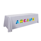 24-Hour Quick Ship 8' Stain-Resistant Economy Table Throw (Full-Color Imprint)