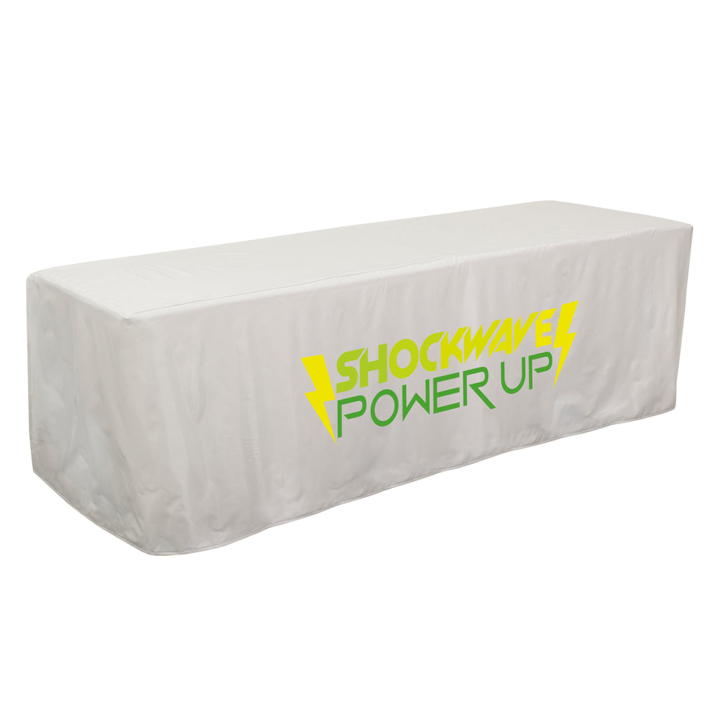 8' Decobrite™ Four-Sided Table Cover (Full-Color Imprint, One Location)