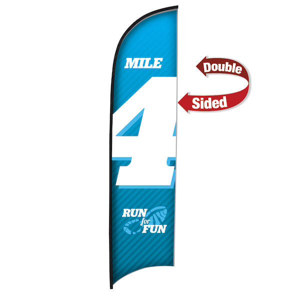 13' Premium Razor Sail Sign Flag, 2-Sided