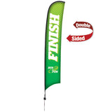 17' Premium Razor Sail Sign, 2-Sided, Ground Spike