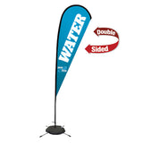 11.5' Premium Teardrop Sail Sign, 2-Sided, Scissor Base