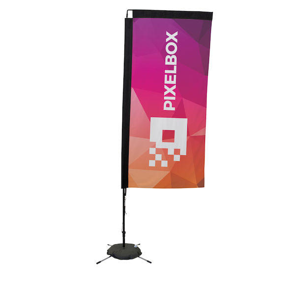 48-Hour Quick Ship 7' Premium Rectangle Sail Sign Kit (Single-Sided with Scissor Base)                     ...