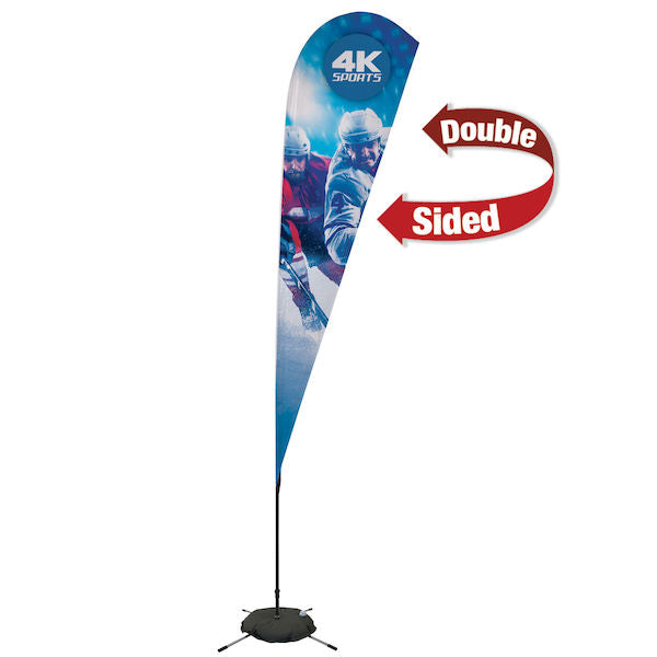 11.5' Streamline Teardrop Sail Sign, 2-Sided, Scissor Base