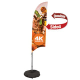 7' Streamline Razor Sail Sign, 2-Sided, 3-Leg Scissor Base