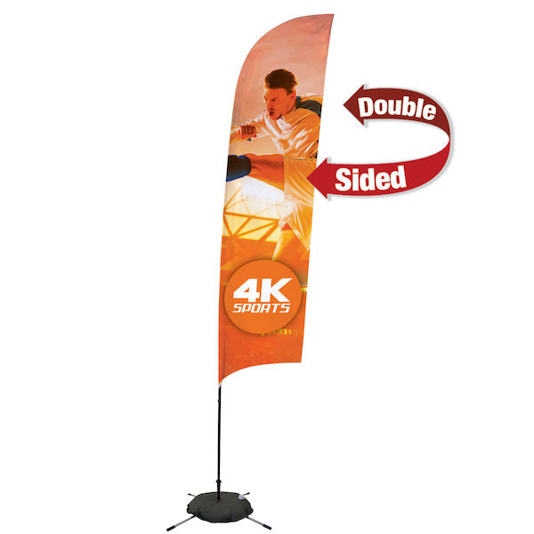 13' Streamline Razor Sail Sign, 2-Sided, Scissor Base