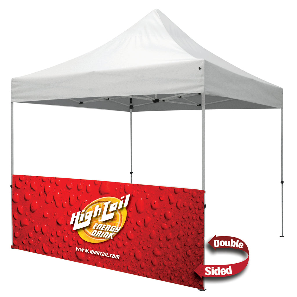 10' ½ Wall w/Bar (Standard, 2-Sided, Dye Sublimation)