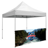10' ½ Wall w/Bar (Premium, 2-Sided, Dye Sublimation)