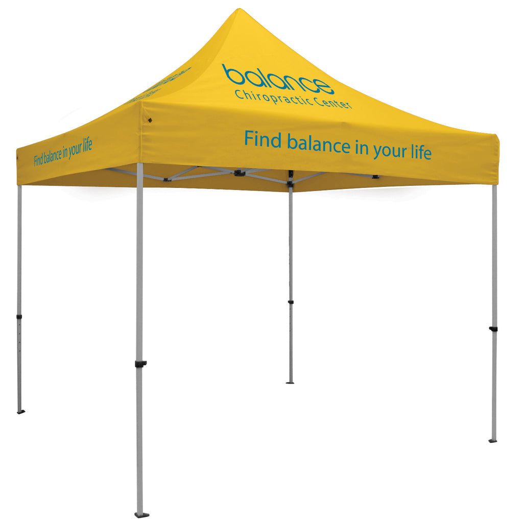 Premium Aluminum 10' Tent Kit (Imprinted, 7 Locations)