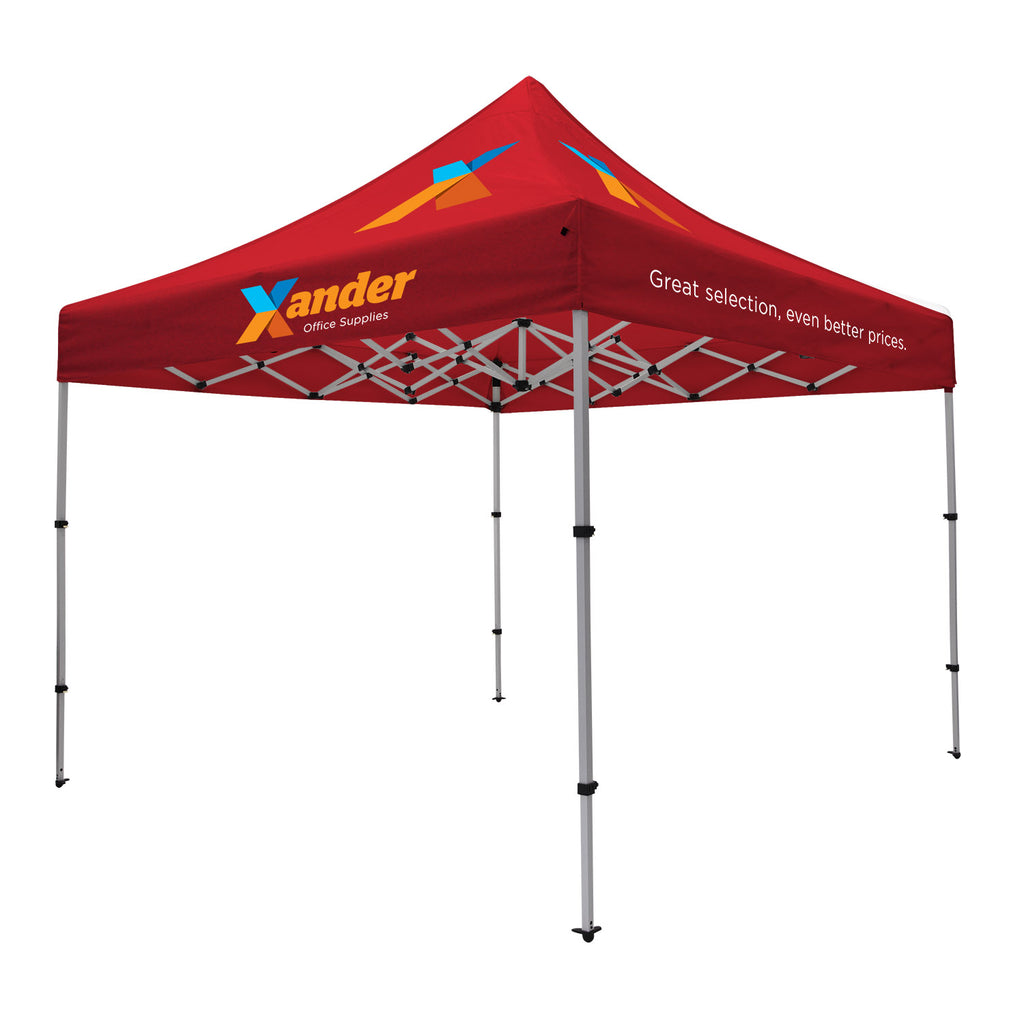 Compact 10' Tent Kit (Full-Color Imprint, 8 Locations)
