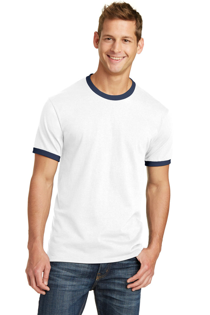 Port & Company Core Cotton Ringer Tee.  PC54R