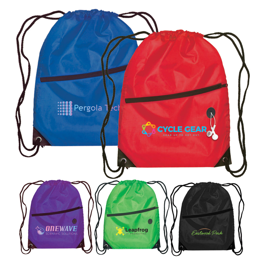 Totes Daypack - Drawstring Backpack - 210D Polyester - ColorJet